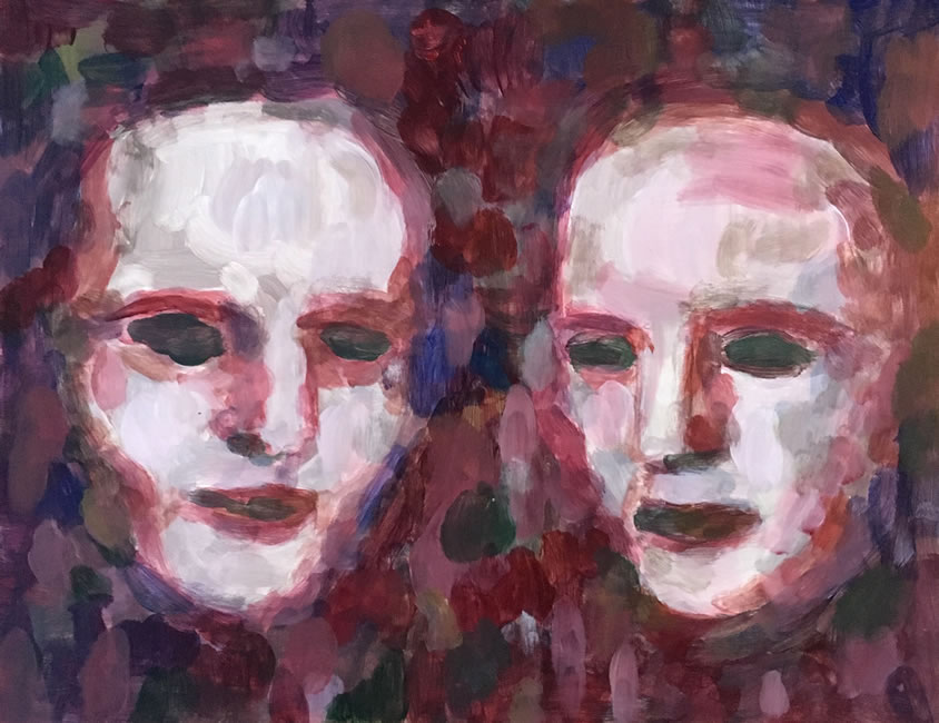 Two Pale Heads in the Dark by William T. Ayton
