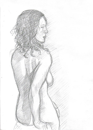 Life Drawing by William T. Ayton