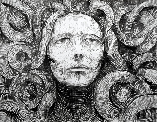 Medusa Trapped in the Coils of Reality