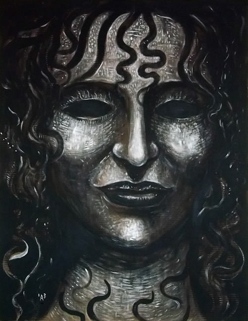 Medusa in Monochrome by William T. Ayton