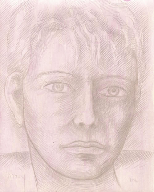 Young Orpheus silverpoint by William T. Ayton