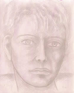 Young Orpheus silverpoint