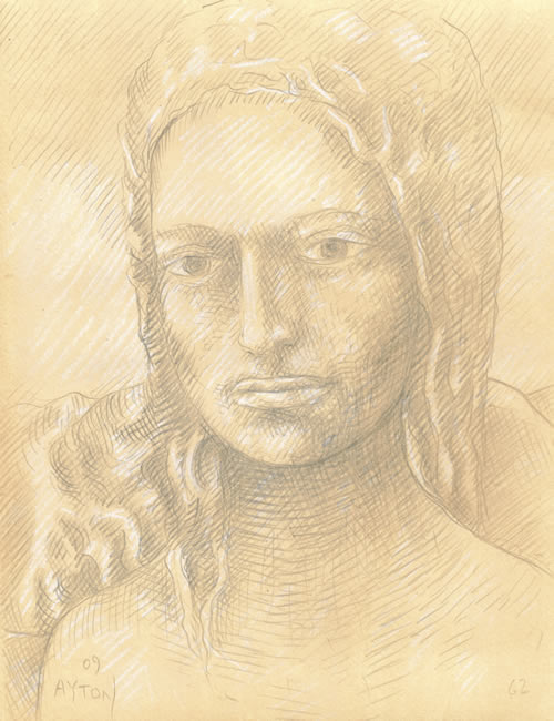 Lilith silverpoint by William T. Ayton
