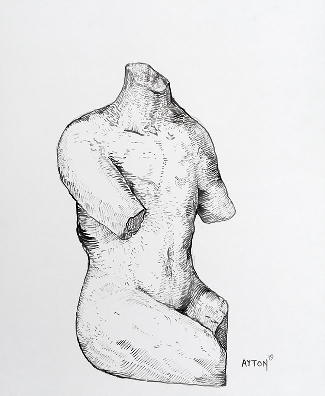 Ancient Ruined Torso by William T. Ayton