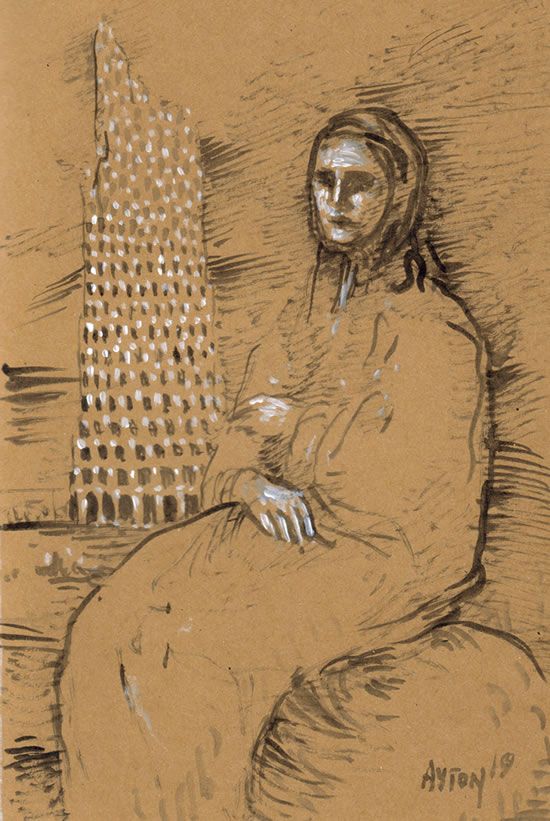 Old Woman & Tower of Babel by William T. Ayton
